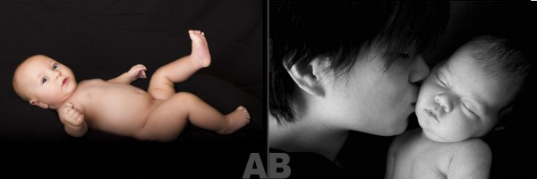 which baby photo A or B