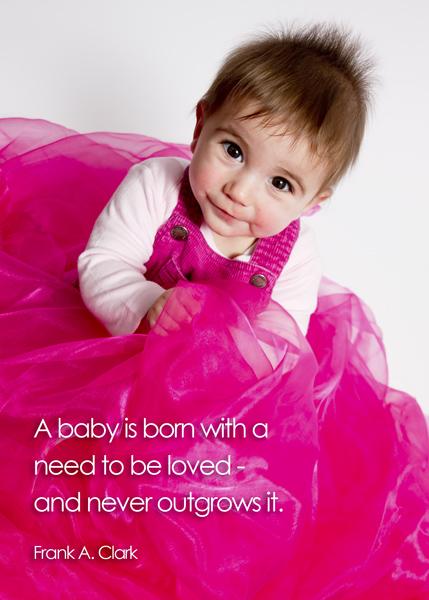 baby photo quote