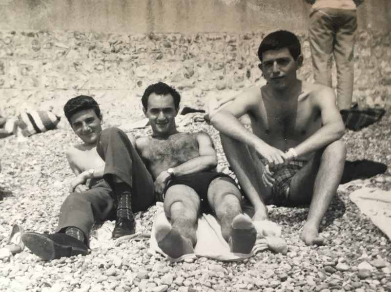 Human Connection - Stan with his friends on Hove beach in the 60s